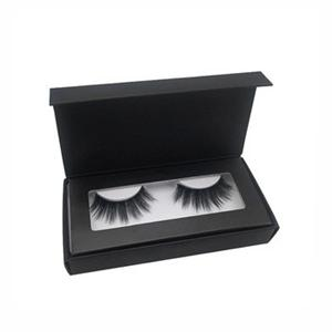 Cardboard Packaging Matte Black Eyelash Box