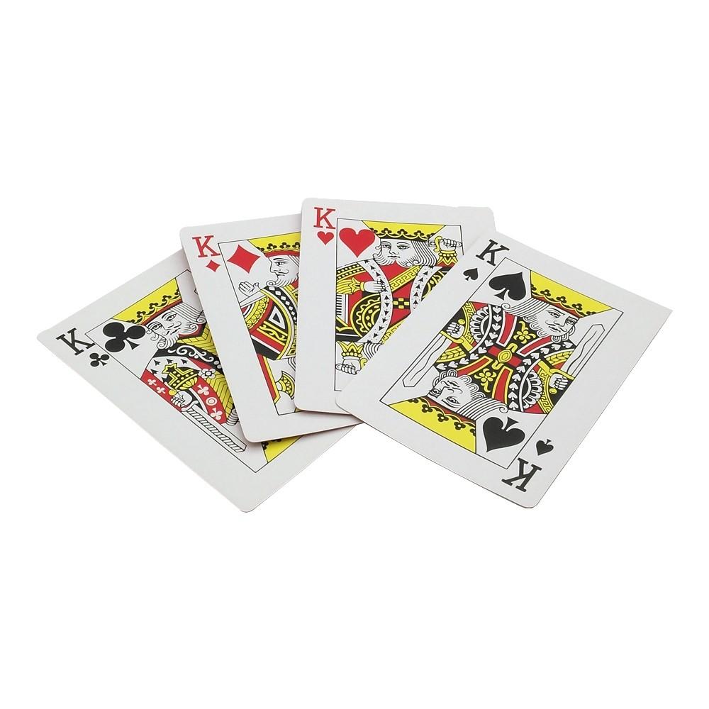 Tryckt svart poker-spelkort