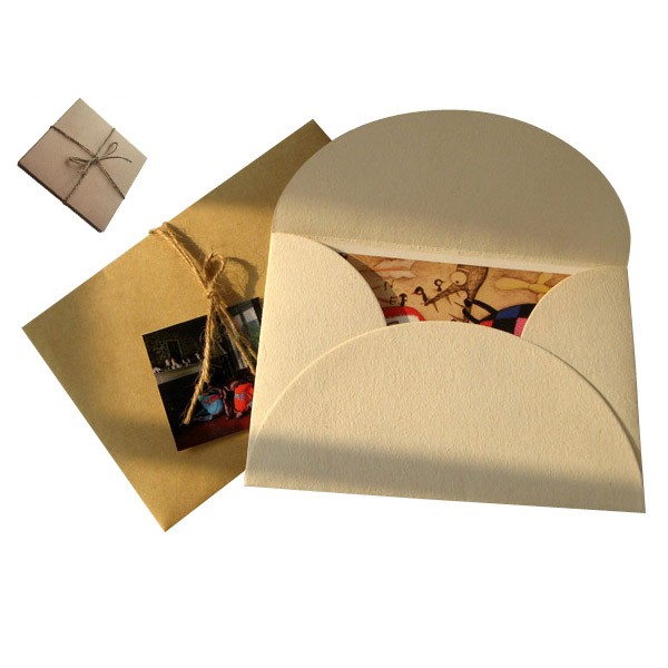Embalaje de sobres de cartón de papel kraft