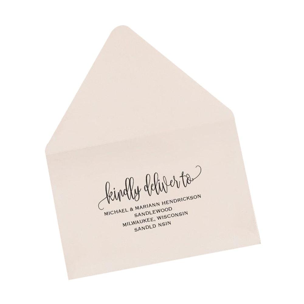 Invitaciones de regalo sobre de boda