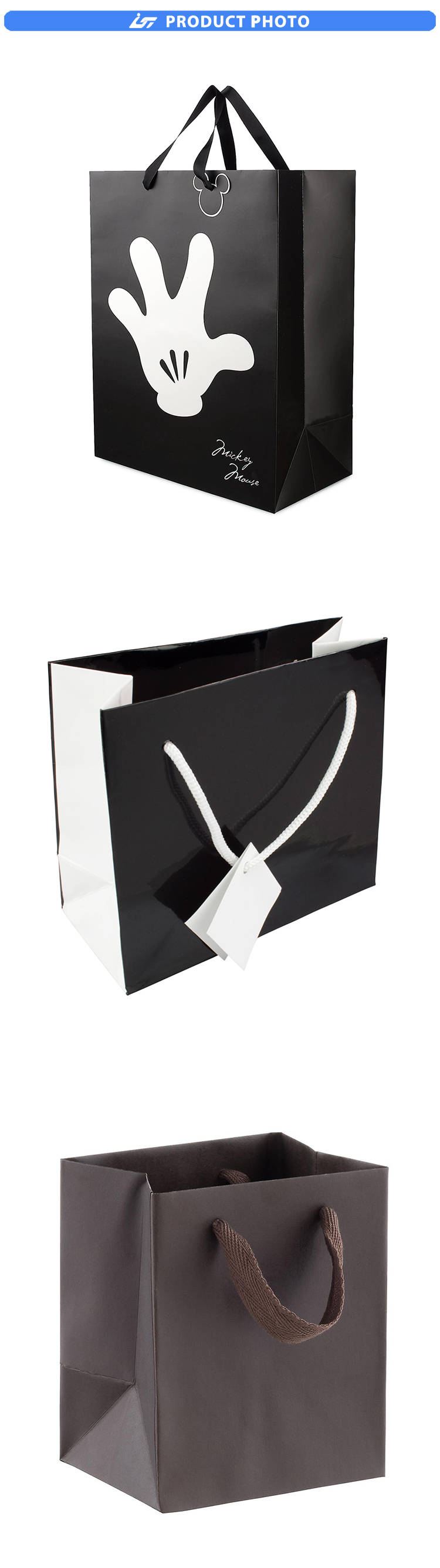 paper bag with logo print