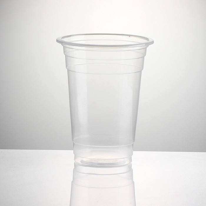 Supply 12oz 14oz Clear Plastic Cups With Dome Lids Factory