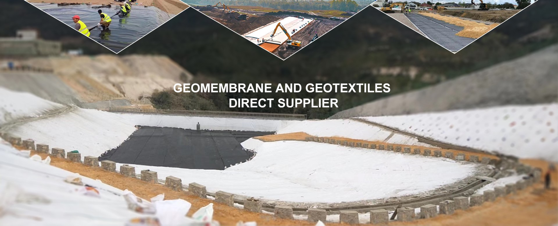 Geomembrane स्थापना