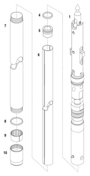 Tubo de núcleo de perfuração de diamante HQ3