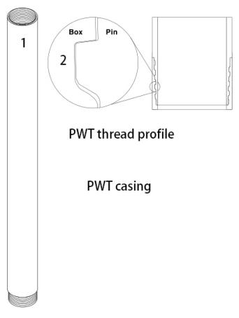 PWT wireline casing