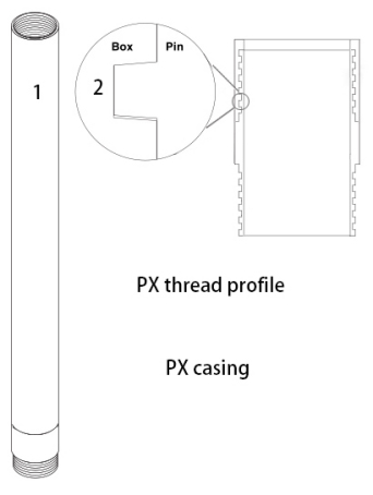 PX drill casing