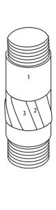 T6 76 86 concha de alargamento de superfície definida