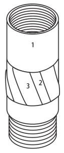 Concha de alargamento impregnada de parede fina TW wireline