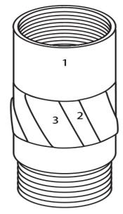 Concha de alargamento impregnada de tubo triplo MLC