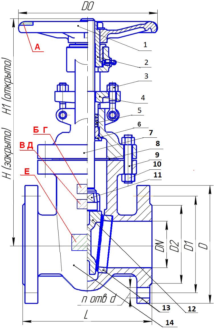 LSB cast iron gate valve