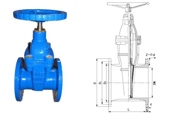 6 inch gate valve