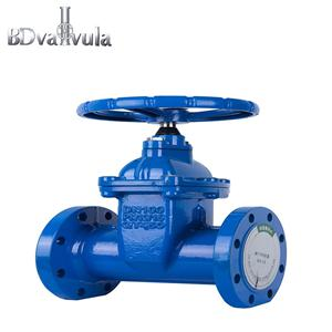 Ductile iron PN10 PN16 soft-sealing gate valve used for cut off the fulid