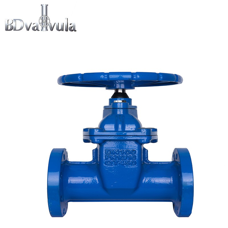 Ductile iron PN10 PN16 soft-sealing gate valve used for cut off the fulid Manufacturers, Ductile iron PN10 PN16 soft-sealing gate valve used for cut off the fulid Factory, Supply Ductile iron PN10 PN16 soft-sealing gate valve used for cut off the fulid