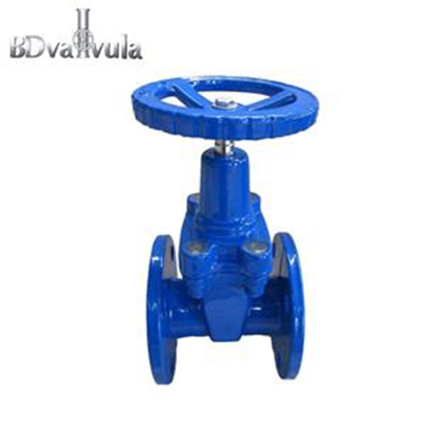 DIN F4 standar Tangguh Soft seal Seated Gate Valve besi ulet