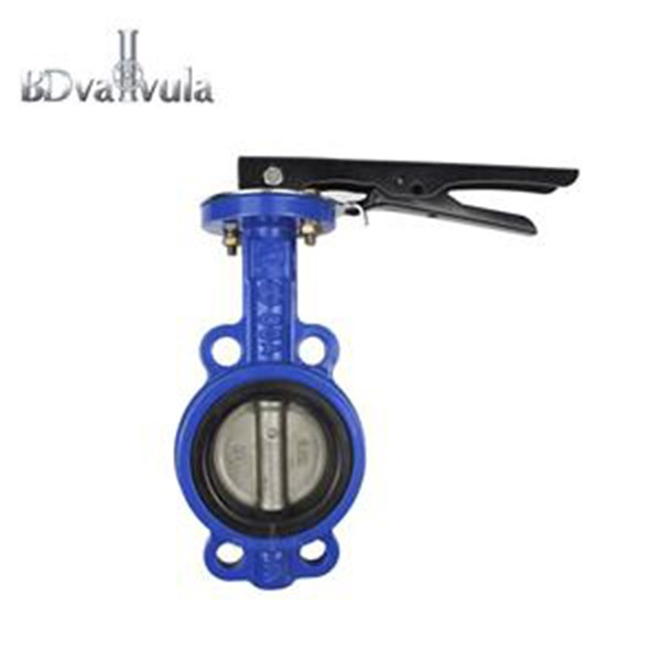 Manual Wafer Soft Sealing Butterfly Valve PN16 Pabrikan