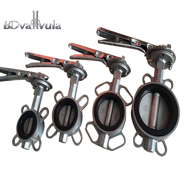 Stainless Steel butterfly valve PTFE seat