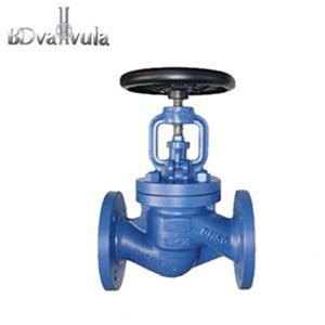 DIN bellow seal stainless steel water stop globe valve for medicine industry
