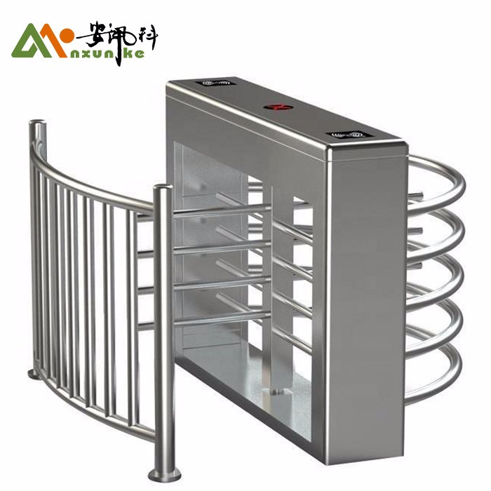 Full Height Turnstile RFID Card And Fingerprint For Prison
