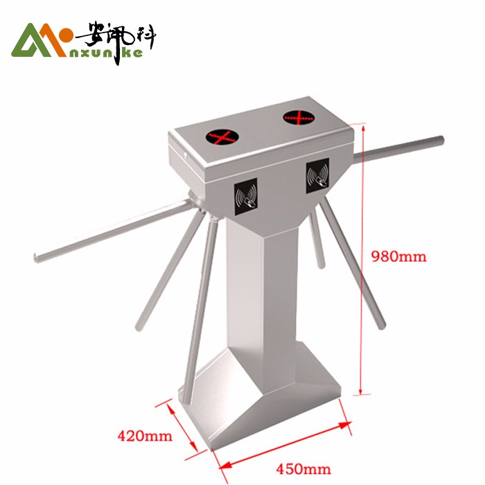 Speed Gate Automatic Tripod Turnstile Counter For Metro