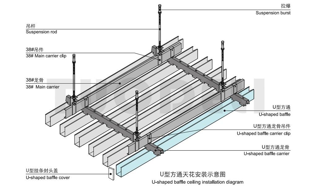U-shaped Baffle Ceiling