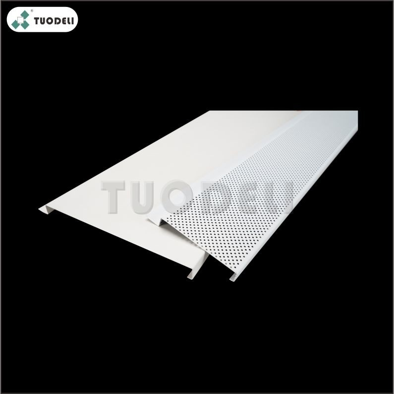 Aluminum 500mm H-shaped Closed Linear Ceiling System
