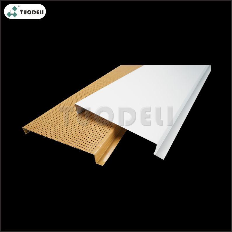 Système de plafond linéaire en aluminium de 400 mm en forme de G