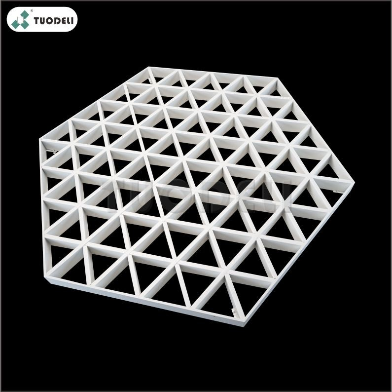 Aluminum Triangle Type Combination Open Cell Ceiling System
