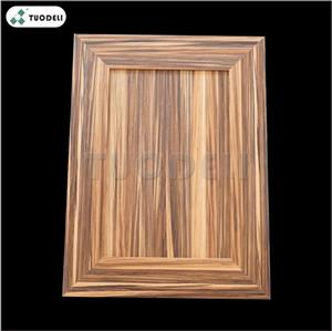 Wood Grain Aluminum Exterior Curtain Wall