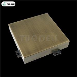 Caldding per pareti interne in alluminio spazzolato