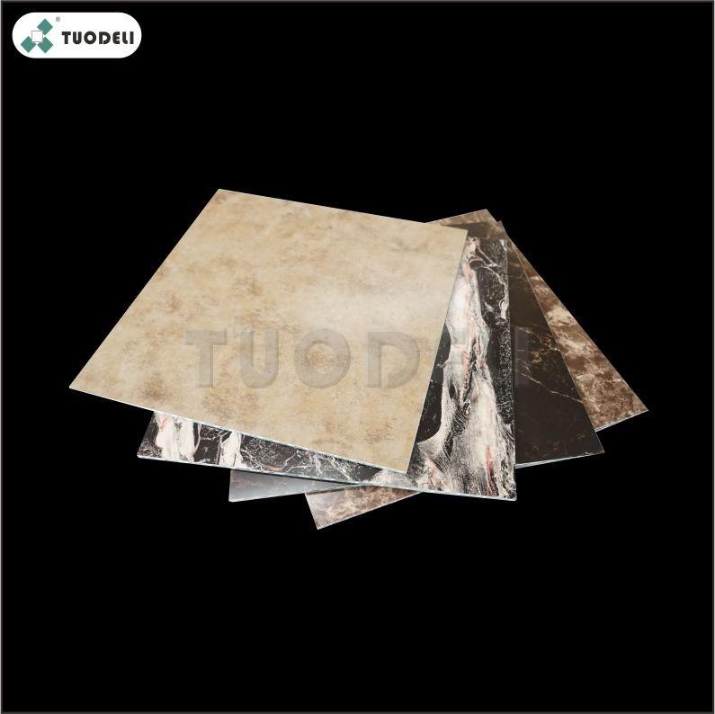 Pannello composito con anima in marmo e alluminio