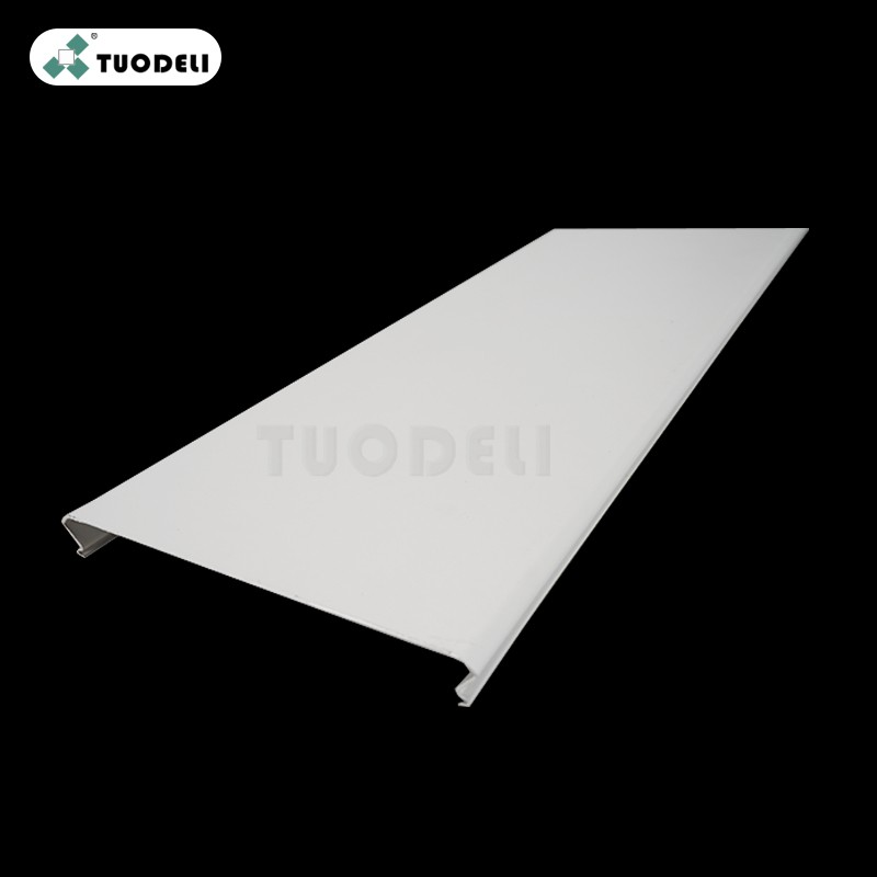 Aluminum 75mm C-shaped Closed Linear Ceiling System