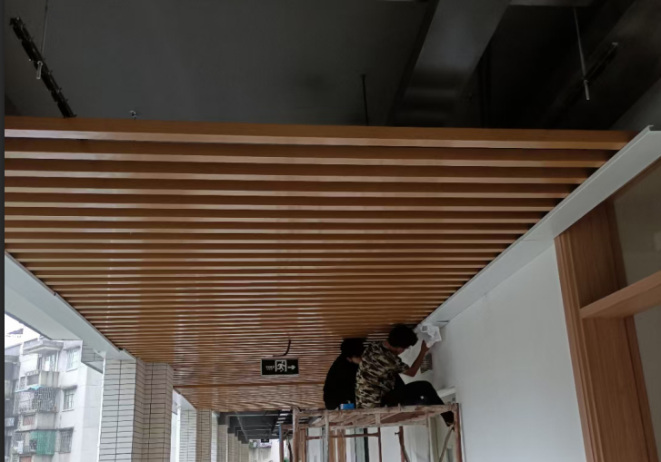 Nouvelle installation de plafond de bureau du parc Foshan Lingnan
