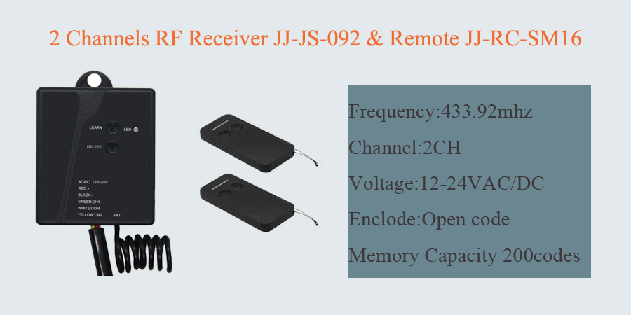 2 way transmitter and receiver