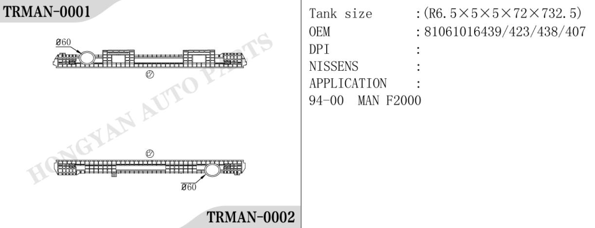 Man radiator tank