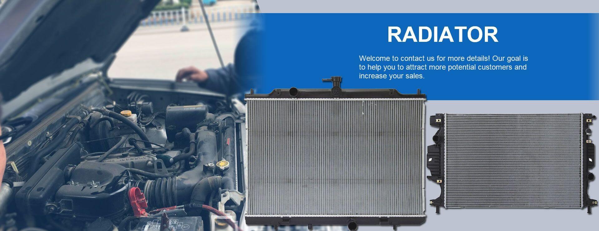 Tanque del radiador del coche
