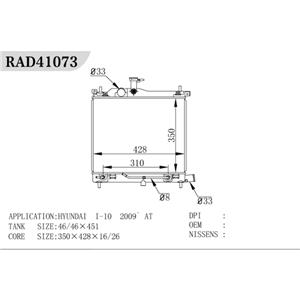 Radiador Hyundai I10