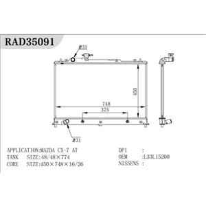 Radiador Mazada para CX-7
