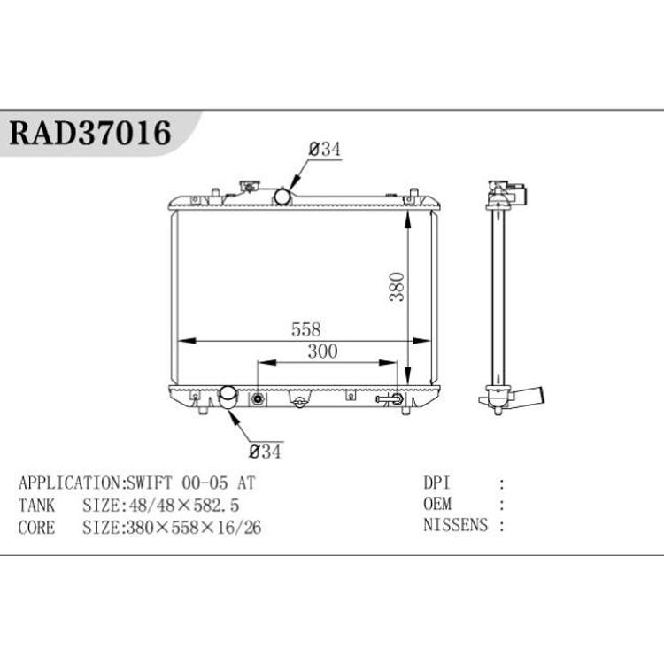 Radiador do trator das peças de automóvel