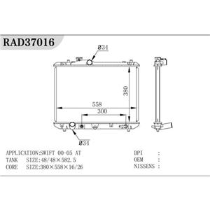 Radiador del tractor de piezas de automóviles