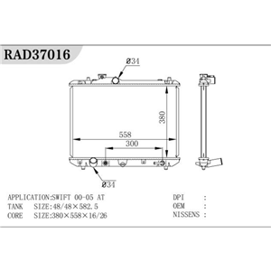 Auto Parts Tractor Radiator