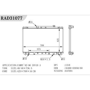 Pa66 Gf30 Plastic Radiator