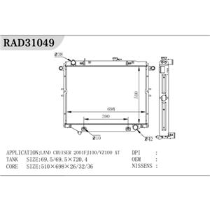 Radiador automático para Land Cuiser