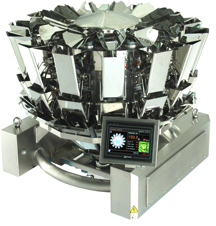 14 heads compact multiweigher