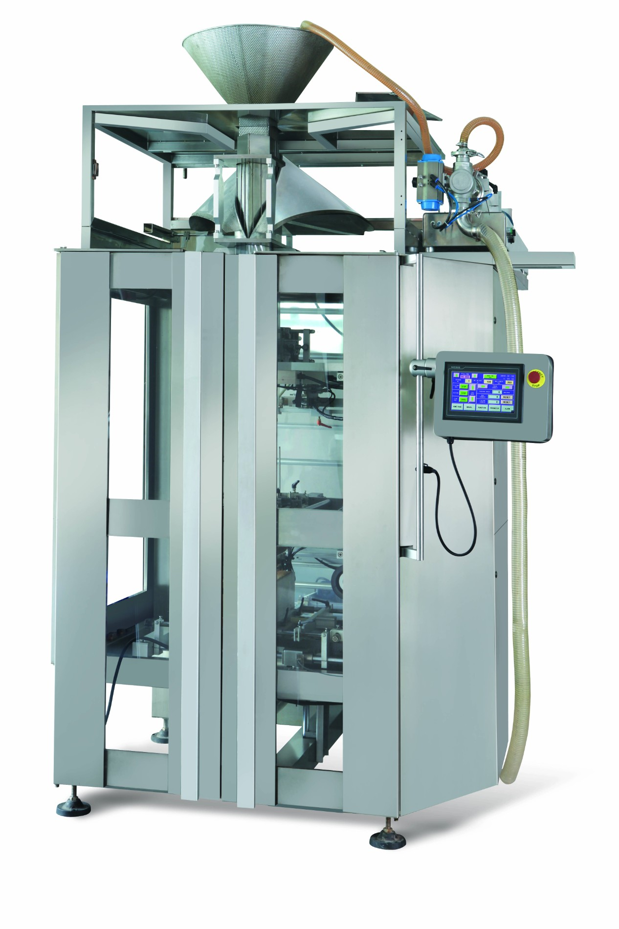 Four sides vertical packing machine for spice paste