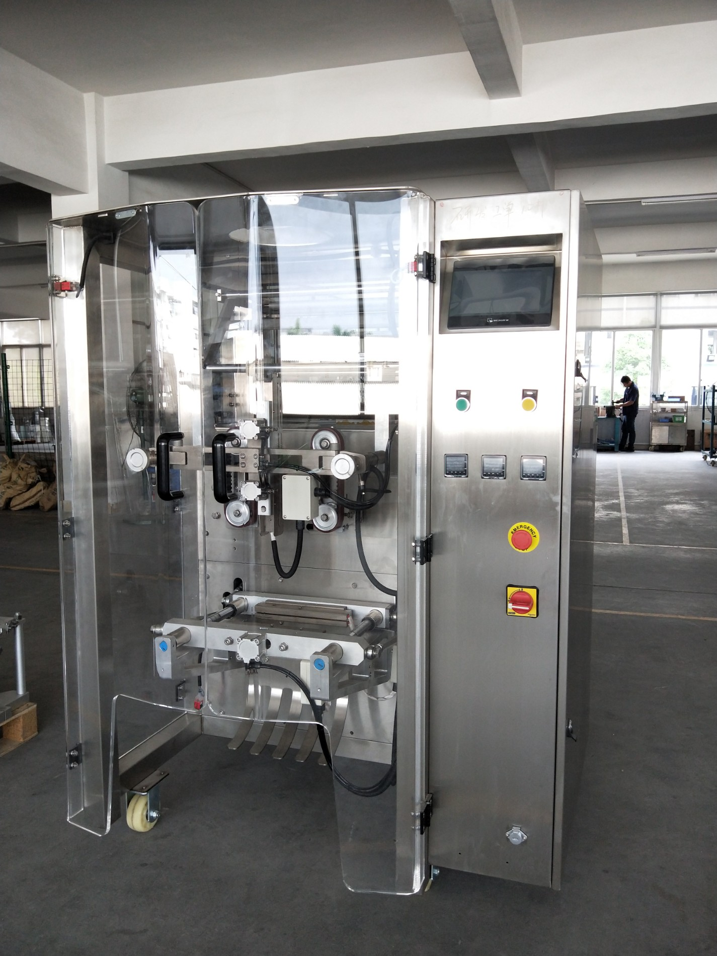 Machine de conditionnement verticale de rendement élevé et de vitesse rapide pour la poudre d'emballage
