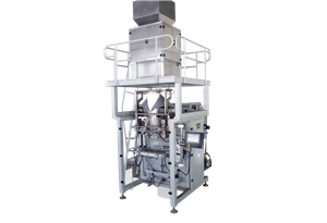 Large packing machine with combination weigher for packing rice and beans granule material
