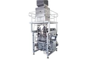 Große Verpackungsmaschine mit Kombinationswaage zum Verpacken von Reis- und Bohnengranulatmaterial