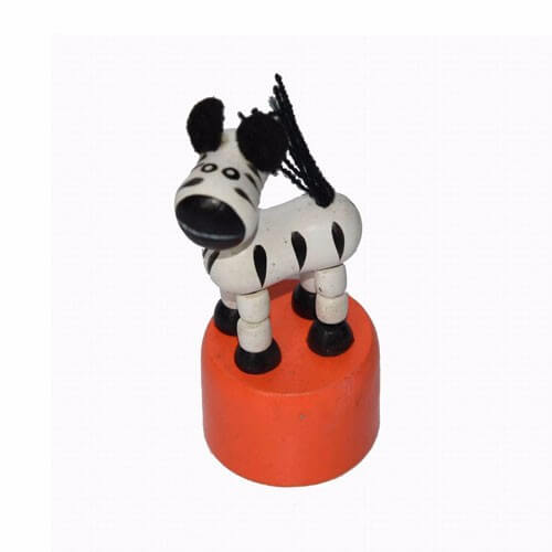 Wooden Toy Zebra