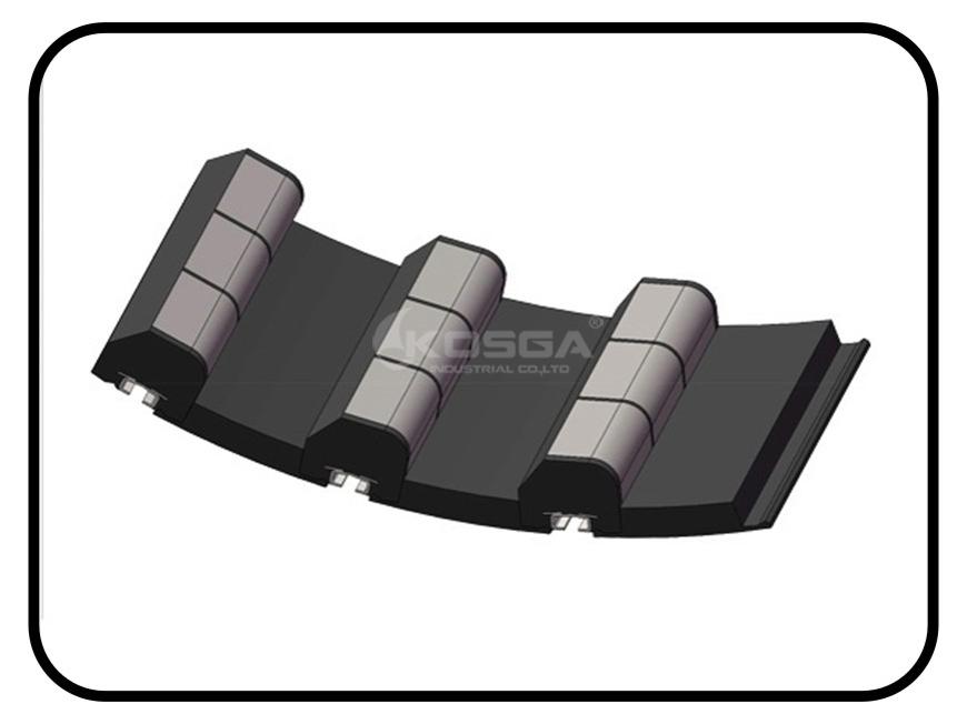 China SAG Mill Shell Rubber Liner