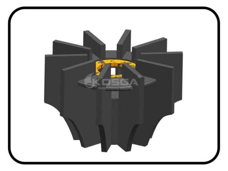 Rotor del estator de poliuretano de la máquina de flotación